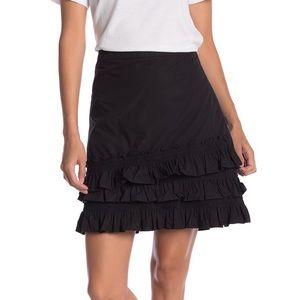 J Crew Baby Armada Cotton Ruffle Mini Skirt Black